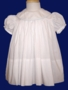 "<img src=""https://p11.secure.hostingprod.com/@grammies-attic.com/ssl/images/blue-sold-1.gif""> Monday's Child Classic White Dress with Baby Blue Trimmed Collar"