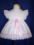 "<img src=""https://p11.secure.hostingprod.com/@grammies-attic.com/ssl/images/blue-sold-1.gif""> Petie Jouet White Eyelet Pinafore with Pink Satin Ribbon"