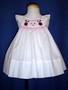 "<img src=""https://p11.secure.hostingprod.com/@grammies-attic.com/ssl/images/blue-sold-1.gif""> Handmade White Pinafore with Pink Smocking & Embroidered Bears"