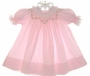 "<img src=""https://p11.secure.hostingprod.com/@grammies-attic.com/ssl/images/blue-sold-1.gif""> House of Hatten Pink Smocked Bishop Dress with Embroidered Rosebuds"