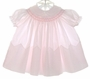 "<img src=""https://p11.secure.hostingprod.com/@grammies-attic.com/ssl/images/blue-sold-1.gif""> Feltman Brothers Pink Smocked Baby Girl's Bishop Dress"