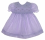 "<img src=""https://p11.secure.hostingprod.com/@grammies-attic.com/ssl/images/blue-sold-1.gif""> B. T. Kids Lilac Checked Smocked Baby Dress with Pink Rosebud Embroidery"