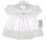 "<img src=""https://p11.secure.hostingprod.com/@grammies-attic.com/ssl/images/blue-sold-1.gif""> NEW Rosalina White Embroidered Dress with Matching Bonnet"