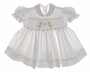"<img src=""https://p11.secure.hostingprod.com/@grammies-attic.com/ssl/images/blue-sold-1.gif""> House Of Hatten White Smocked Baby Dress with Embroidered Ducks"