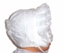 "<img src=""https://p11.secure.hostingprod.com/@grammies-attic.com/ssl/images/blue-sold-1.gif""> Lacy White Bonnet with Eyelet Trim and Hearts Embroidery"