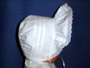 "<img src=""https://p11.secure.hostingprod.com/@grammies-attic.com/ssl/images/blue-sold-1.gif""> NEW White Batiste Bonnet with Pintucks & Eyelet Trim"