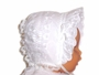 "<img src=""https://p11.secure.hostingprod.com/@grammies-attic.com/ssl/images/blue-sold-1.gif""> White Eyelet Baby Bonnet with White Satin Bows"
