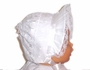 "<img src=""https://p11.secure.hostingprod.com/@grammies-attic.com/ssl/images/blue-sold-1.gif""> NEW White Eyelet Baby Bonnet with White Satin Ribbon"
