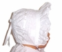 "<img src=""https://p11.secure.hostingprod.com/@grammies-attic.com/ssl/images/blue-sold-1.gif""> White Eyelet Baby Bonnet with White Satin Ribbons"