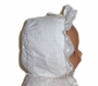 "<img src=""https://p11.secure.hostingprod.com/@grammies-attic.com/ssl/images/blue-sold-1.gif""> White Eyelet Baby Bonnet with White Satin Ribbon Trim"