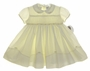 "<img src=""https://p11.secure.hostingprod.com/@grammies-attic.com/ssl/images/blue-sold-1.gif""> NEW Sarah Louise Yellow Smocked Baby Dress with Embroidered Yellow Rosebuds"