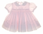 "<img src=""https://p11.secure.hostingprod.com/@grammies-attic.com/ssl/images/blue-sold-1.gif""> NEW Sarah Louise Pale Pink Smocked Baby Dress with Fagoted Collar"