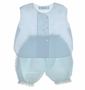 "<img src=""https://p11.secure.hostingprod.com/@grammies-attic.com/ssl/images/blue-sold-1.gif""> NEW Feltman Brothers Pale Blue Diaper Shirt Set with Ruffle Bottom Bloomers"