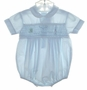 "<img src=""https://p11.secure.hostingprod.com/@grammies-attic.com/ssl/images/blue-sold-1.gif""> Feltman Brothers Pale Blue Smocked Romper with Embroidered Boat"
