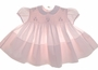 "<img src=""https://p11.secure.hostingprod.com/@grammies-attic.com/ssl/images/blue-sold-1.gif""> NEW Feltman Brothers Pale Pink Smocked Baby Dress with Embroidered Flowers"