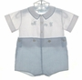 "<img src=""https://p11.secure.hostingprod.com/@grammies-attic.com/ssl/images/blue-sold-1.gif""> Feltman Brothers Blue Checked Button On Shorts Set with Train Applique"