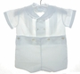 "<img src=""https://p11.secure.hostingprod.com/@grammies-attic.com/ssl/images/blue-sold-1.gif""> NEW Feltman Brothers Vintage Style White Button on Shorts Set with Ruffled Embroidered Collar"