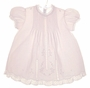 "<img src=""https://p11.secure.hostingprod.com/@grammies-attic.com/ssl/images/blue-sold-1.gif""> NEW Feltman Brothers Pale Pink Baby Dress with Pintucks and Lace Insertion"