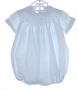 "<img src=""https://p11.secure.hostingprod.com/@grammies-attic.com/ssl/images/blue-sold-1.gif""> Feltman Brothers Blue Smocked Bubble With White Embroidery"