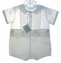 "<img src=""https://p11.secure.hostingprod.com/@grammies-attic.com/ssl/images/blue-sold-1.gif""> NEW Feltman Brothers White Button On Shorts Set with Ruffled Collar"