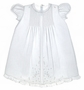 "<img src=""https://p11.secure.hostingprod.com/@grammies-attic.com/ssl/images/blue-sold-1.gif""> NEW Feltman Brothers Christening Gown with Pintucks, Lace, and Embroidery"
