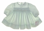 "<img src=""https://p11.secure.hostingprod.com/@grammies-attic.com/ssl/images/blue-sold-1.gif""> NEW Petit Ami Pale Green Smocked Preemie Dress with Matching Bonnet"