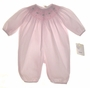 "<img src=""https://p11.secure.hostingprod.com/@grammies-attic.com/ssl/images/blue-sold-1.gif""> NEW Petit Ami Pale Pink Bishop Smocked Preemie Bubble with Tiny Embroidered Flowers"