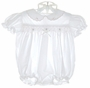 "<img src=""https://p11.secure.hostingprod.com/@grammies-attic.com/ssl/images/blue-sold-1.gif""> Petit Ami Smocked White Bubble with Embroidered Rosebuds"