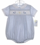 "<img src=""https://p11.secure.hostingprod.com/@grammies-attic.com/ssl/images/blue-sold-1.gif""> NEW Petit Ami Blue Checked Smocked Romper and Matching Hat with Embroidered Bunnies"
