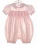 "<img src=""https://p11.secure.hostingprod.com/@grammies-attic.com/ssl/images/blue-sold-1.gif""> Petit Ami Pale Pink Smocked Baby Bubble with Embroidered Pink Rosebuds"