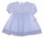 "<img src=""https://p11.secure.hostingprod.com/@grammies-attic.com/ssl/images/blue-sold-1.gif""> NEW Petit Ami Blue Pleated Baby Dress with Embroidered Square Collar"