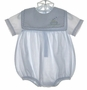 "<img src=""https://p11.secure.hostingprod.com/@grammies-attic.com/ssl/images/blue-sold-1.gif""> Petit Ami Pale Blue Striped Romper with Embroidered Boat"
