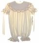 "<img src=""https://p11.secure.hostingprod.com/@grammies-attic.com/ssl/images/blue-sold-1.gif""> NEW Victorian Heirlooms Ivory Baby Bubble with Battenburg Lace Trim"