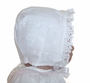 "<img src=""https://p11.secure.hostingprod.com/@grammies-attic.com/ssl/images/blue-sold-1.gif""> NEW Heirloom Style White Eyelet Bonnet with Ruffle"