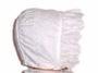 "<img src=""https://p11.secure.hostingprod.com/@grammies-attic.com/ssl/images/blue-sold-1.gif""> White Embroidered Baby Bonnet with Eyelet Ruffle"