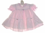 "<img src=""https://p11.secure.hostingprod.com/@grammies-attic.com/ssl/images/blue-sold-1.gif""> Pink Striped Dress with Rosebud Print Pinafore"