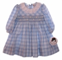 "<img src=""https://p11.secure.hostingprod.com/@grammies-attic.com/ssl/images/blue-sold-1.gif""> NEW Sarah Louise Blue Plaid Smocked Baby Dress"