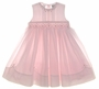 "<img src=""https://p11.secure.hostingprod.com/@grammies-attic.com/ssl/images/blue-sold-1.gif""> NEW Sarah Louise Pale Pink Sleeveless Smocked Dress with Pintucks, Fagoting, and Embroidered Rosebuds"