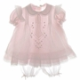 "<img src=""https://p11.secure.hostingprod.com/@grammies-attic.com/ssl/images/blue-sold-1.gif""> NEW Will'Beth Pink Baby Dress with Lace Insertion and Matching Pantaloons"