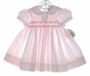 "<img src=""https://p11.secure.hostingprod.com/@grammies-attic.com/ssl/images/blue-sold-1.gif""> NEW Carriage Boutiques Pink Smocked Baby Dress with White Fagoted Collar"