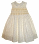 "<img src=""https://p11.secure.hostingprod.com/@grammies-attic.com/ssl/images/blue-sold-1.gif""> NEW Sarah Louise Smocked Sleeveless White Dress with Yellow Flowers"