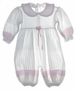 "<img src=""https://p11.secure.hostingprod.com/@grammies-attic.com/ssl/images/blue-sold-1.gif""> NEW Feltman Brothers Pink and White Lacy Knit Baby Romper"