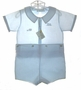 "<img src=""https://p11.secure.hostingprod.com/@grammies-attic.com/ssl/images/blue-sold-1.gif""> NEW Feltman Brothers Blue Button On Shorts Set with Embroidered Trains"