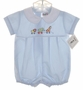 "<img src=""https://p11.secure.hostingprod.com/@grammies-attic.com/ssl/images/blue-sold-1.gif""> NEW Alexis Blue Baby Romper with Circus Animal Embroidery and Matching Hat"