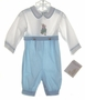 "<img src=""https://p11.secure.hostingprod.com/@grammies-attic.com/ssl/images/blue-sold-1.gif""> NEW Beatrix Potter Blue and White Longall with Peter Rabbit Embroidery"