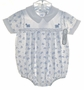 "<img src=""https://p11.secure.hostingprod.com/@grammies-attic.com/ssl/images/blue-sold-1.gif""> NEW Feltman Brothers White Airplane Print Romper with Matching Booties"