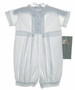 "<img src=""https://p11.secure.hostingprod.com/@grammies-attic.com/ssl/images/blue-sold-1.gif""> NEW Allie Wade White Cotton Christening Romper with Pleated Front"