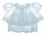 "<img src=""https://p11.secure.hostingprod.com/@grammies-attic.com/ssl/images/blue-sold-1.gif""> NEW Feltman Brothers Pale Blue Smocked Bishop Style Diaper Shirt with Matching Diaper Cover"