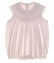 "<img src=""https://p11.secure.hostingprod.com/@grammies-attic.com/ssl/images/blue-sold-1.gif""> NEW Feltman Brothers Pale Pink Smocked Sleeveless Bubble with Embroidered Lace Trimmed Collar"