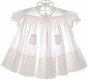"<img src=""https://p11.secure.hostingprod.com/@grammies-attic.com/ssl/images/blue-sold-1.gif""> Feltman Brothers White Smocked Dress with Tiny Pale Pink Flowers"